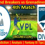 Today Match Prediction-Salt Pond Breakers vs Grenadines Divers-VPL T10 2021-4th Match-Who Will Win