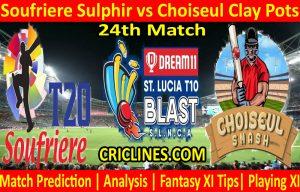 Today Match Prediction-Soufriere Sulphir vs Choiseul Clay Pots-St