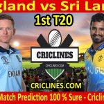 Today Match Prediction-England vs Sri Lanka-1st T20-2021-Who Will Win