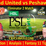 Today Match Prediction-Islamabad United vs Peshawar Zalmi-PSL T20 2021-Eliminator 2-Who Will Win