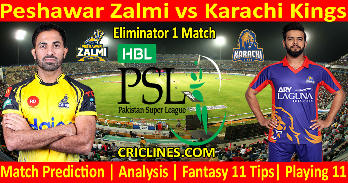 Today Match Prediction-Peshawar Zalmi vs Karachi Kings-PSL T20 2021-Eliminator 1-Who Will Win