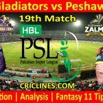 Today Match Prediction-Quetta Gladiators vs Peshawar Zalmi-PSL T20 2021-19th Match-Who Will Win