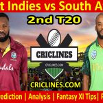 Today Match Prediction-West Indies vs South Africa-2nd T20 2021-Who Will Win