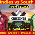 Today Match Prediction-West Indies vs South Africa-4th T20 2021-Who Will Win