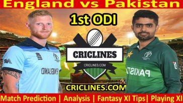 Today Match Prediction-England vs Pakistan-1st ODI-2021-Who Will Win
