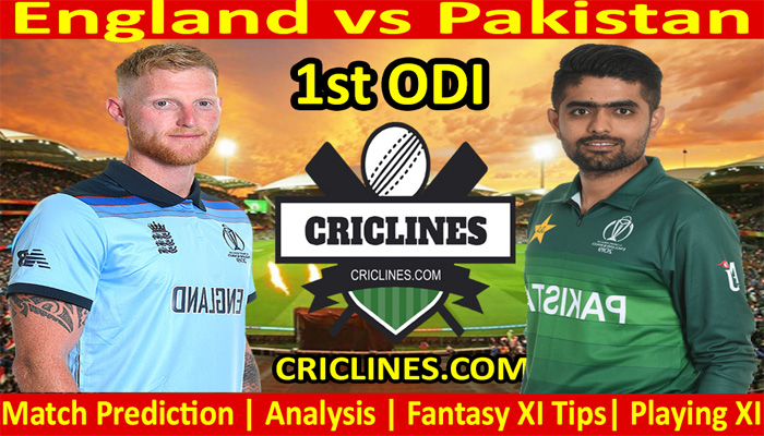 Today's match predictions - England vs Pakistan - 1 ODI-2021 - Who will win
