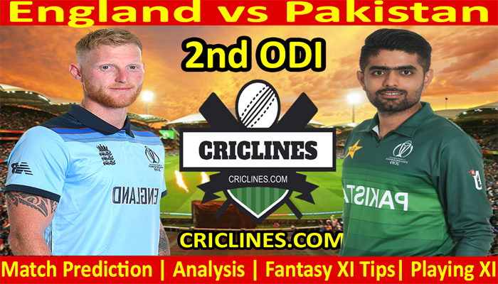 Today Match Prediction-England vs Pakistan-2nd ODI-2021-Who Will Win