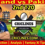Today Match Prediction-England vs Pakistan-2nd T20-2021-Who Will Win