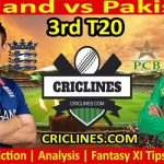 Today Match Prediction-England vs Pakistan-3rd T20-2021-Who Will Win