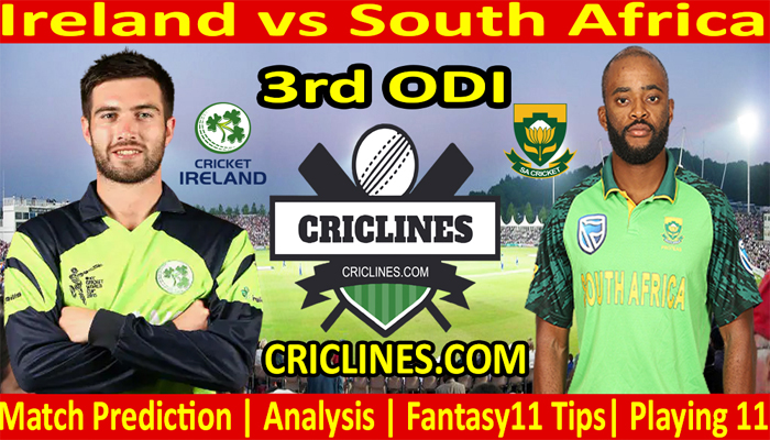 Today Match Prediction-Ireland vs South Africa-3rd ODI-2021-Who Will Win