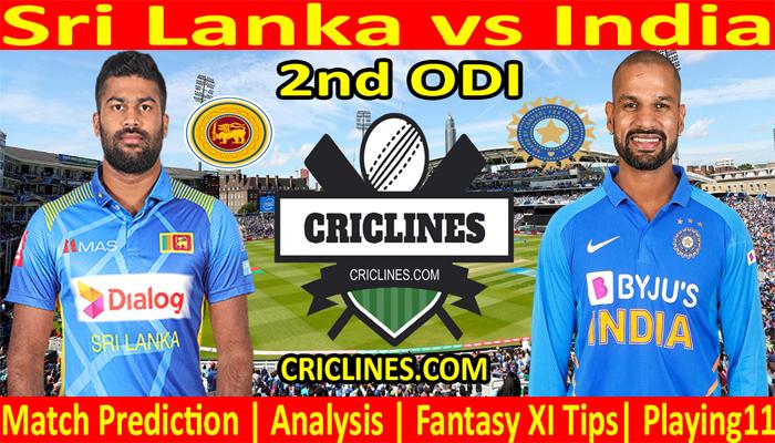 Today Match Prediction-Sri Lanka vs India-2nd ODI 2021-Who Will Win