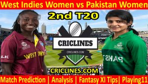 Today Match Prediction-West Indies Women vs Pakistan Women-2nd T20-2021-Who Will Win