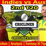 Today Match Prediction-West Indies vs Australia-2nd T20 2021-Who Will Win