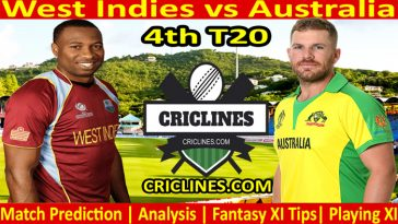 Today Match Prediction-West Indies vs Australia-4th T20 2021-Who Will Win