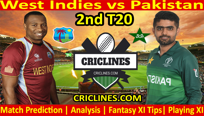 Today Match Prediction-West Indies vs Pakistan-2nd T20-2021-Who Will Win