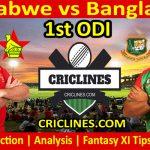 Today Match Prediction-Zimbabwe vs Bangladesh-1st ODI 2021-Who Will Win
