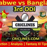 Today Match Prediction-Zimbabwe vs Bangladesh-3rd ODI 2021-Who Will Win