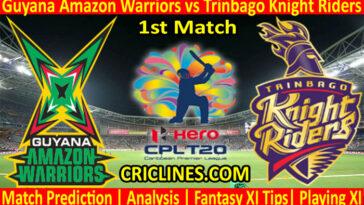 Today Match Prediction-Guyana Amazon Warriors vs Trinbago Knight Riders-CPL T20 2021-1st Match-Who Will Win