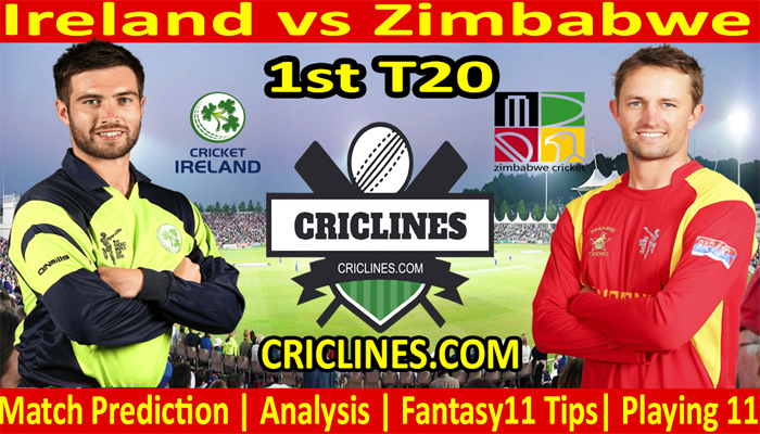 Today Match Prediction-Ireland vs Zimbabwe-1st T20-2021-Who Will Win