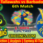 Today Match Prediction-Jamaica Tallawahs vs Barbados Royals-CPL T20 2021-6th Match-Who Will Win