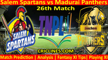 Today Match Prediction-Salem Spartans vs Madurai Panthers-TNPL T20 2021-26th Match-Who Will Win