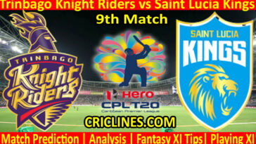 Today Match Prediction-Trinbago Knight Riders vs Saint Lucia Kings-CPL T20 2021-9th Match-Who Will Win