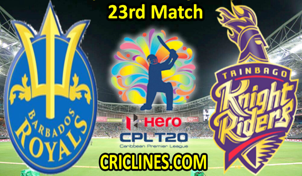 Today Match Prediction-BRS vs TKR-CPL T20 2021-23rd Match-Who Will Win