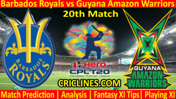 Today Match Prediction-Barbados Royals vs Guyana Amazon Warriors-CPL T20 2021-20th Match-Who Will Win