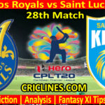 Today Match Prediction-Barbados Royals vs Saint Lucia Kings-CPL T20 2021-28th Match-Who Will Win