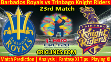 Today Match Prediction-Barbados Royals vs Trinbago Knight Riders-CPL T20 2021-23rd Match-Who Will Win