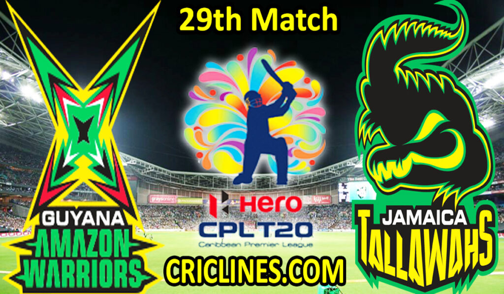 Today Match Prediction-GAW vs JTS-CPL T20 2021-29th Match-Who Will Win