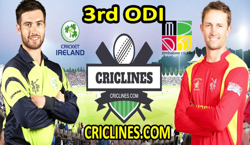 Today Match Prediction-IRE vs ZIM-3rd ODI-2021-Who Will Win