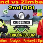 Today Match Prediction-Ireland vs Zimbabwe-2nd ODI-2021-Who Will Win