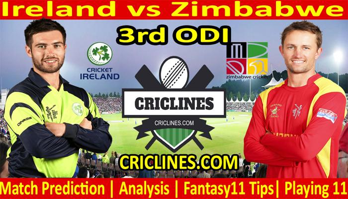 Today Match Prediction-Ireland vs Zimbabwe-3rd ODI-2021-Who Will Win