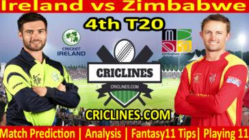 Today Match Prediction-Ireland vs Zimbabwe-4th T20-2021-Who Will Win