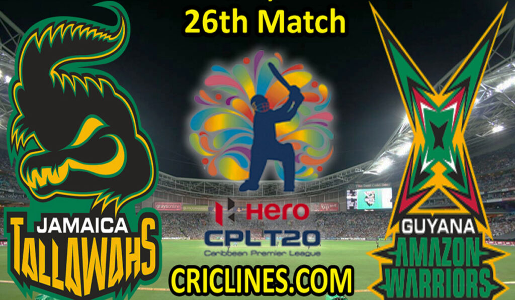 Today Match Prediction-JTS vs GAW-CPL T20 2021-26th Match-Who Will Win