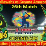 Today Match Prediction-Jamaica Tallawahs vs Guyana Amazon Warriors-CPL T20 2021-26th Match-Who Will Win