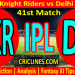 Today Match Prediction-KKR vs DC-IPL T20 2021-41st Match-Who Will Win