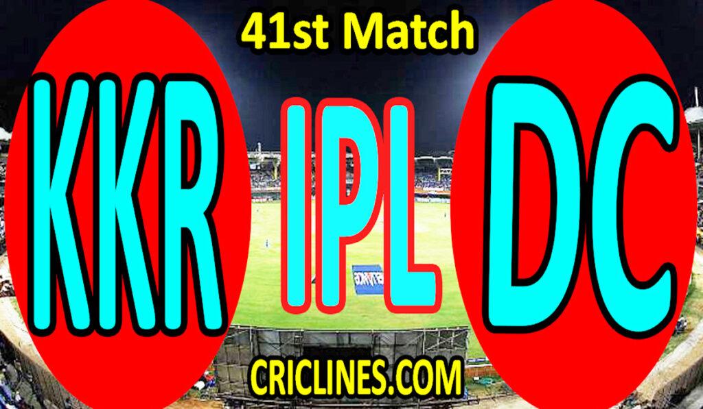 Today Match Prediction-Kolkata Knight Riders vs Delhi Capitals-IPL T20 2021-41st Match-Who Will Win
