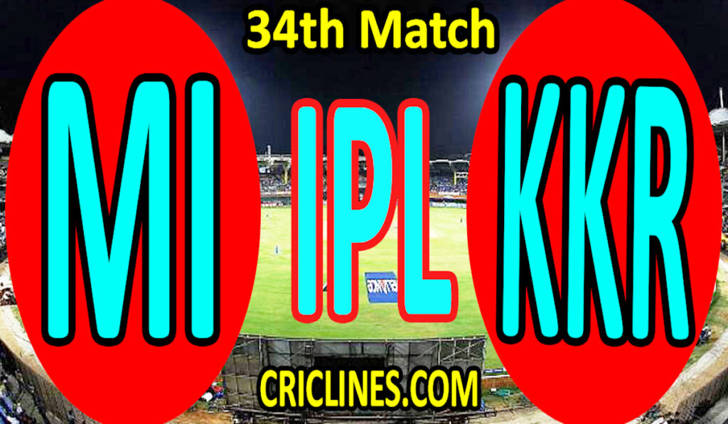 Today Match Prediction-MI vs KKR-IPL T20 2021-34th Match-Who Will Win