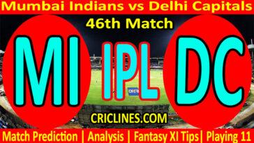 Today Match Prediction-Mumbai Indians vs Delhi Capitals-IPL T20 2021-46th Match-Who Will Win