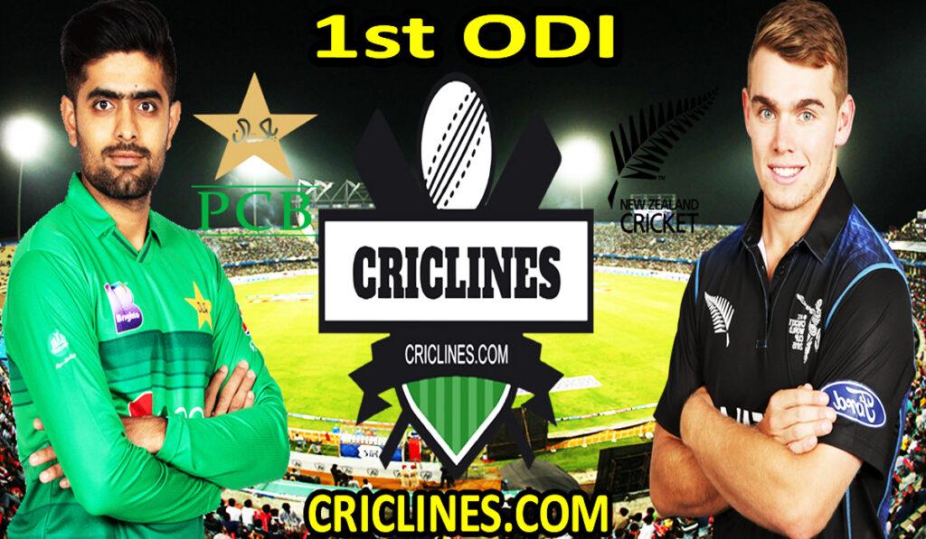 Today Match Prediction-PAK vs NZ-1st ODI-Who Will Win