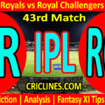 Today Match Prediction-RR vs RCB-IPL T20 2021-43rd Match-Who Will Win