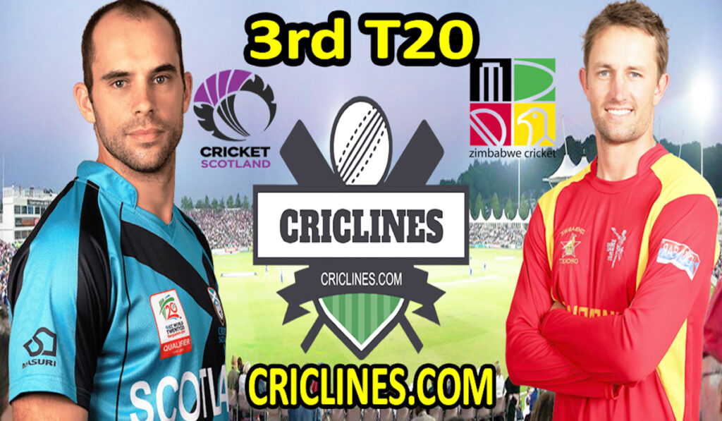 Today Match Prediction-SCO vs ZIM-3rd T20-2021-Who Will Win