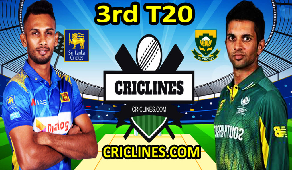 Today Match Prediction-SL vs RSA-3rd T20-Who Will Win Today