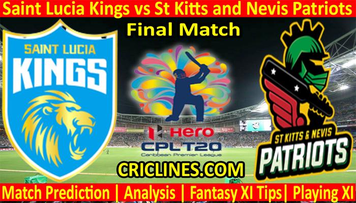Today Match Prediction-SLK vs SNP-CPL T20 2021-Final-Who Will Win