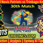 Today Match Prediction-SNP vs TKR-CPL T20 2021-30th Match-Who Will Win