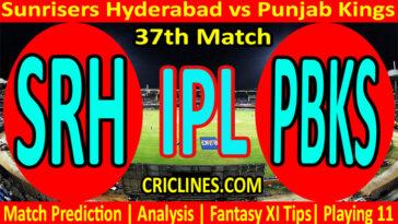 Today Match Prediction-SRH vs PBKS-IPL T20 2021-37th Match-Who Will Win