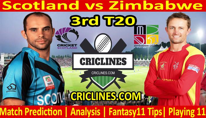 Today Match Prediction-Scotland vs Zimbabwe-3rd T20-2021-Who Will Win