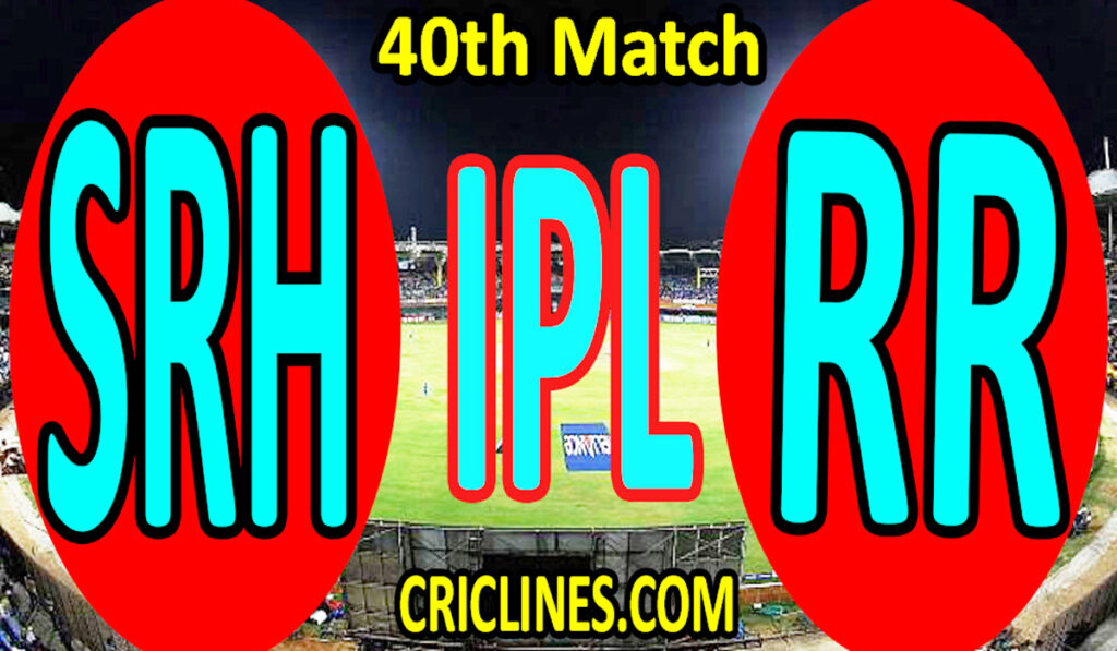 Today Match Prediction-Sunrisers Hyderabad vs Rajasthan Royals-IPL T20 2021-40th Match-Who Will Win